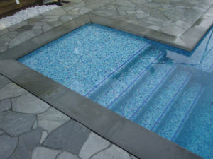Bisazza Tile Design pool steps