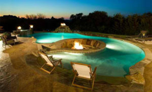 poolside fire pool design